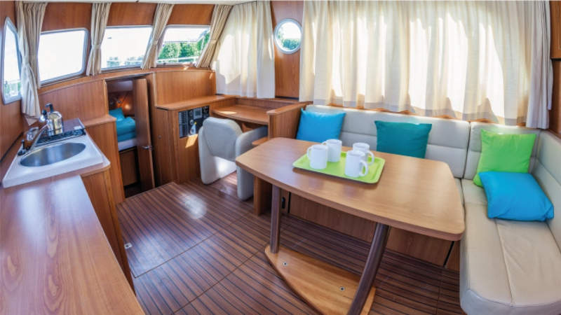 Linssen Grand Study 34.9 - Salon, convertible en Lit Double